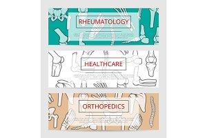 Orthopedics, rheumatology medical banner template