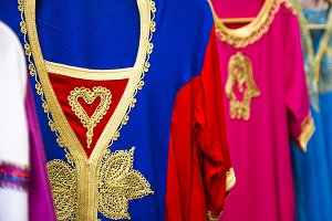 Arab dresses in arab market