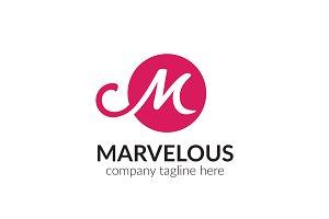 Marvelous Letter M Logo