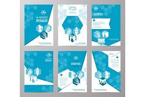 Orthopedics and radiology medicine card template