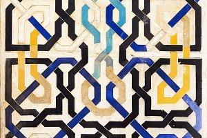 Tile decoration, Alhambra, Granada