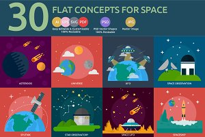 Flat Concepts for Space