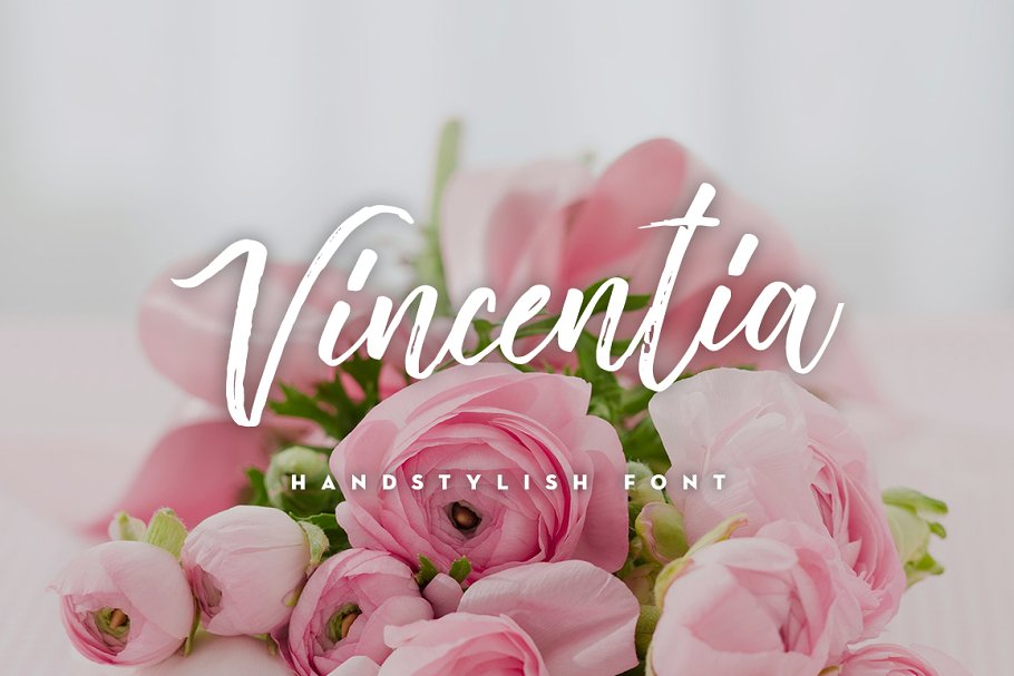 Best Vincentia Handstylish Font Vector