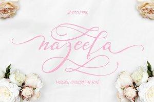 Nazeefa Script Font (30% OFF)