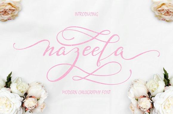 Nazeefa Script Font