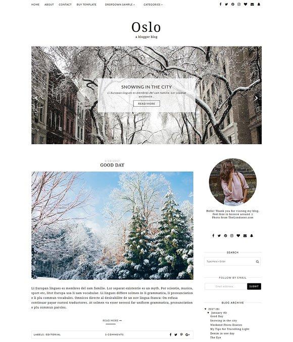 Responsive Blogger Template OSLO