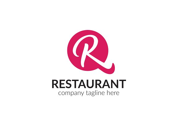 Restaurant letter r logo logo templates creative market thecheapjerseys Image collections