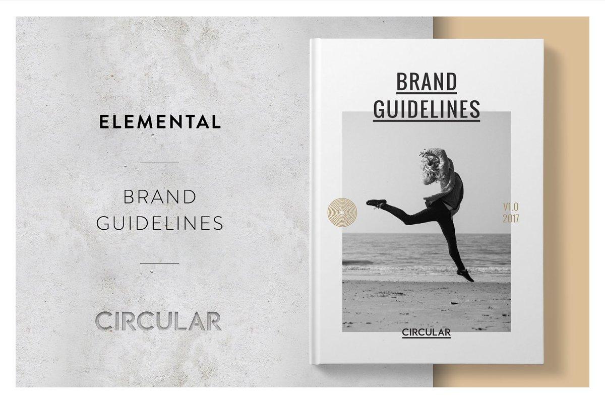 ELEMENTAL / Brand Style Guide ~ Brochure Templates ~ Creative Market