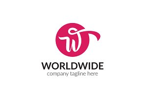 Worldwide Letter W Logo