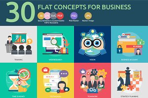 Flat Concepts for Business Concept