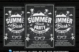 Chalkboard Summer Beach Party