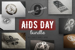 Aids day vintage logo kit