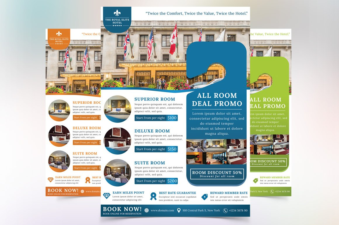 apartment flyer photos graphics fonts themes templates the royal elite hotel flyer template
