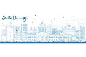 Outline Santo Domingo Skyline