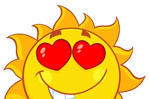 Love Sun Cartoon Mascot Character