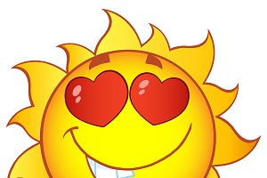 Love Sun Character With Gradient