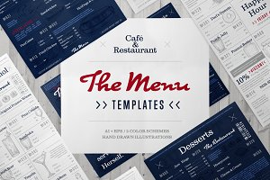 Café and restaurant menu bundle
