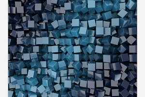Square blue background