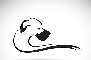 Vector of a dog (great dane)