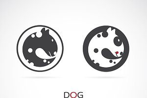 Vector of a dog design.