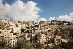 Silwan Village in Jerusalem.