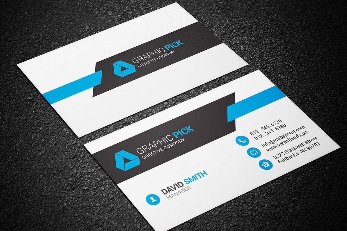 Modern business card template business card templates for Free modern business card templates
