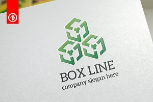 Box Line / Network - Logo Template