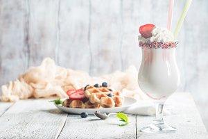 Fresh made Vanilla Shake