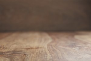 vintage rosewood wooden surface background in perspective view
