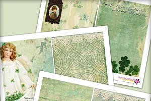 Shamrocks Printable Junk Journal