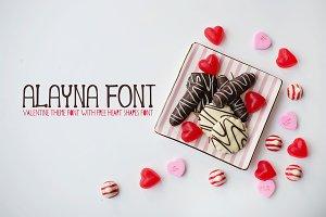 Alayna Valentines Love Font