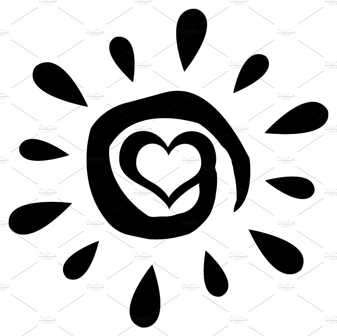 Sunlight Clipart Black And White