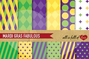 Mardi Gras Background Patterns