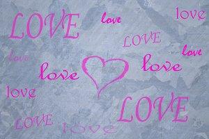 love graffiti on the wall