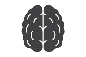 Human brain icon. Vector