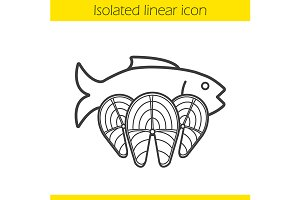 Fish icon. Vector