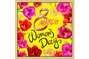 8 march women day, Hand lettering