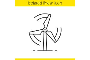Rotating windmill icon. Vector