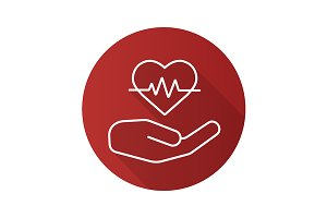 Heart care icon. Vector