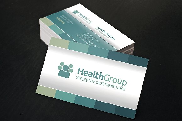 Health business cards best business cards healthcare business cards card templates creative market reheart Image collections