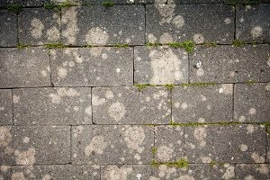 Slag block ground surface