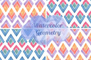 Vector watercolor patterns