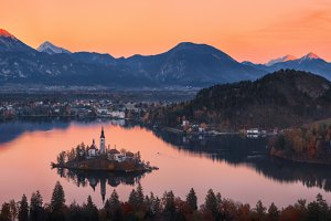 Evening on Lake Bled