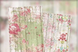 Shabby Floral & Fence Journal Cards