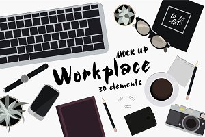 Set of 30 elements for Workplace