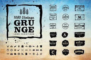 Vintage Logo and Grunge Logo