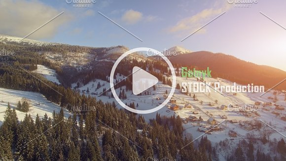 4K Aerial Drone View Beautiful Mountain Landscape With Blue Sky