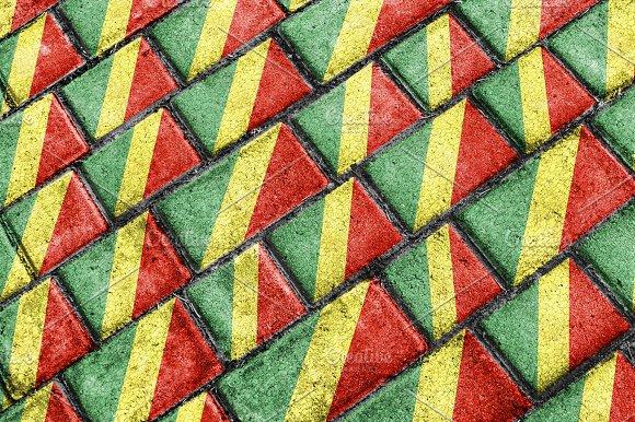 Congo Flag Urban Grunge Pattern