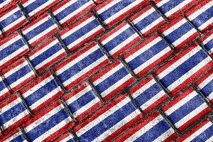Thailand Flag Urban Grunge Pattern