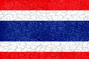Thailand Grunge Style National Flag